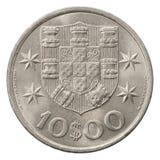 10 Portugese escudo Stock Fotografie