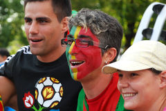 Portugese fan Royalty Free Stock Photography