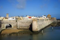 Portugese fortress in El Jadida Royalty Free Stock Photos