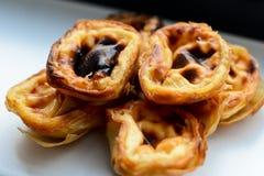 Portugese gebakjes Stock Afbeeldingen