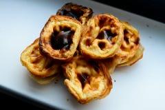 Portugese gebakjes stock fotografie