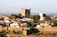 Portugese historische vesting van Braganca Stock Foto