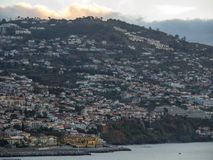 The portugese island of madeira. The City of funchal and the portugese Island of madeira Royalty Free Stock Image