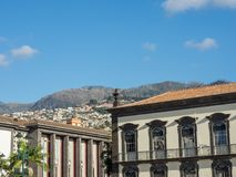 The portugese island of madeira. The City of funchal and the portugese Island of madeira Stock Photos