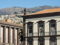 The portugese island of madeira. The City of funchal and the portugese Island of madeira Stock Image