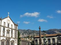 The portugese island of madeira. The City of funchal and the portugese Island of madeira Stock Photo