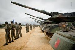 Portugese legermanoeuvres stock foto's