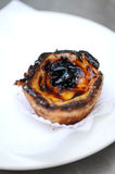 Portugese national pastries: Egg Custard Tart(Pastel de nata) Stock Image