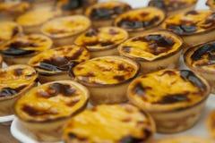 Portugese pastries. Pasteis de nata Royalty Free Stock Photos
