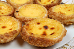 Portugese pastries. Pasteis de nata. Delicious home made cuisine. Typical for Lisbon region Royalty Free Stock Photography