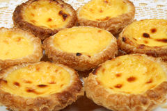 Portugese pastries. Pasteis de nata. Delicious home made cuisine. Typical for Lisbon region Royalty Free Stock Images