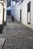 Portugese straatverkoper Stock Foto's