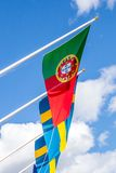Portugese and Swedish Flags Stock Photography