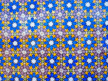 Portugese tegels bij Pena-Paleis, Sintra, Portugal Stock Foto
