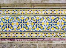 Portugese tiles azulejo. Traditional Portugese tiles azulejo, background Stock Photography