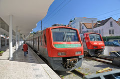 Portugese train Royalty Free Stock Image