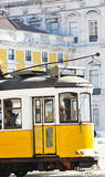 Portugese tramcar Royalty Free Stock Photo