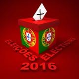 Portugese Verkiezingen 2016 Royalty-vrije Stock Afbeelding