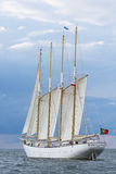 Portugese vier-mast schoener Santa Maria Manuela Stock Afbeeldingen