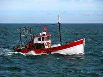 Portugese Vissersboot op zee stock afbeeldingen