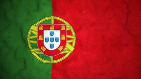 Portugese Vlag Naadloze Videolijn stock video