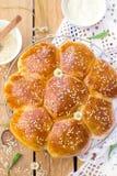 Portugese zoete brood Hawaiiaanse zoete broodjes Stock Foto