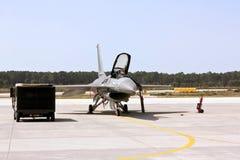 Portugiese F16 geerdet Stockbilder