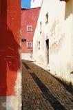 Portugiesische alte Straße Stockfotos