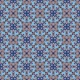 Portugiesische azulejo Fliesen Blaues und weißes herrliches nahtloses Lizenzfreies Stockbild