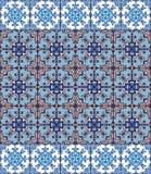 Portugiesische azulejo Fliesen Blaues und weißes herrliches nahtloses Stockfotografie