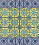 Portugiesische azulejo Fliesen Blaues und weißes herrliches nahtloses Lizenzfreie Stockfotos