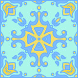 Portugiesische azulejo Fliesen Blaues und weißes herrliches nahtloses Stockfotos