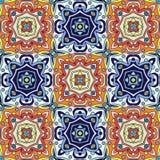 Portugiesische azulejo Fliesen Blaues und weißes herrliches nahtloses Muster Stockfoto