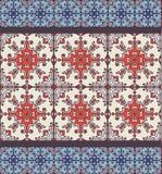 Portugiesische azulejo Fliesen Blaues und weißes herrliches nahtloses Muster Lizenzfreie Stockfotografie