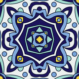 Portugiesische azulejo Fliesen Nahtlose Muster Stockfoto