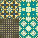 Portugiesische azulejo Fliesen Nahtlose Muster Lizenzfreie Stockfotografie