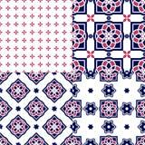 Portugiesische azulejo Fliesen Nahtlose Muster Lizenzfreies Stockfoto