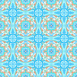 Portugiesische azulejo Fliesen Nahtloses Muster des Aquarells Lizenzfreie Stockbilder