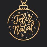 Portugiesische Beschriftung froher Weihnachten Feliz Natals Auch im corel abgehobenen Betrag vektor abbildung