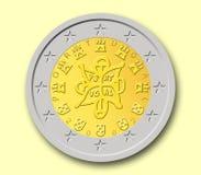 Portugiesische Euromünze zwei stockfotos