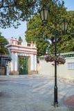 Portugiesische Kolonialarchitektur in Macao-Porzellan stockfoto