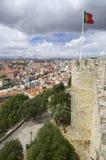Portugiesische Markierungsfahne Lizenzfreie Stockfotografie