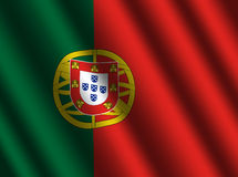 Portugiesische Markierungsfahne mit Kräuselungen lizenzfreie abbildung