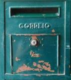 Portugiesischer Briefkasten Stockfoto