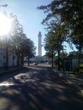 Portugiesischer Leuchtturm in Vila wirkliches de Santo Antonio Stockfoto