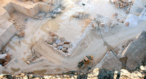 Portugiesischer Marmorsteinbruch nahe Borba Lizenzfreie Stockfotos