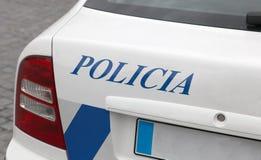 Portugiesischer Polizeiwagen Stockbild