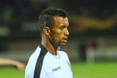 Portugiesischer Profi-Fußballspieler Nani lizenzfreie stockfotografie