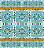 Portugiesisches azulejo Weiße und blaue Muster Lizenzfreie Stockfotos