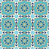 Portugiesisches azulejo Weiße und blaue Muster Lizenzfreie Stockfotografie